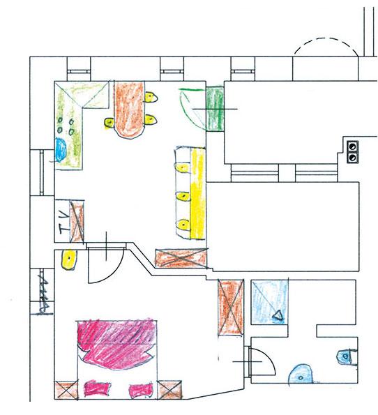 Ost ausgerichtete Wohnung Comici im alpenländischen Stil in